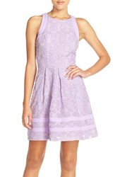 Women's Adelyn Rae Cutout Lace Fit And Flare Dress Nordstrom Exclusive