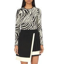 Fausto Puglisi Abstract Jacquard Stretch Knit Bodysuit Patterned