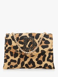 Dune Ejessie Leopard Print Evening Bag