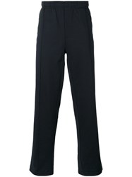 Our Legacy Elasticated Straight Jogging Trousers Men Cotton Polyester Xs Blue