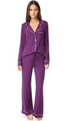 Fleurt Cozy Nights Pj Set Wineberry Oyster Pink