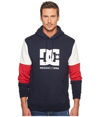 Dc Doney Pullover Hoodie Dark Indigo Men's Sweatshirt Blue