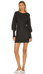 The Jetset Diaries Little Of Your Love Sweater Dress In Gray. Dark Charcoal