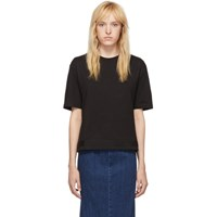 Mcq By Alexander Mcqueen Black Taped Swallow T Shirt
