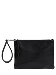 Maison Martin Margiela Small Structured Leather Clutch Black