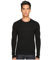 Jack Spade Jersey Stitch Crew Neck Sweater Black