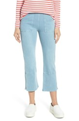 Lysse Seamed Flare Leg Crop Denim Leggings Cashmere Blue