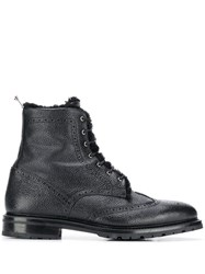 Thom Browne Shearling Lining Wingtip Boot Black