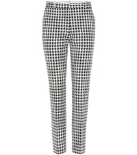 Each X Other Checked Cotton Blend Trousers Black