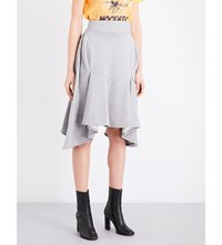 Junya Watanabe Loopback Cotton Jersey Skirt Grey