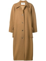Awake A.W.A.K.E. Slit Sleeve Coat Brown