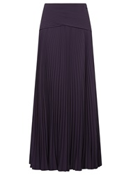Jacques Vert Maxi Plisse Skirt Dark Purple