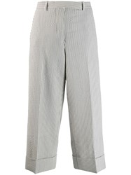 Thom Browne Seersucker Front Sack Cropped Trousers 60