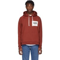 Second Layer Red Oversized Ebm Hoodie