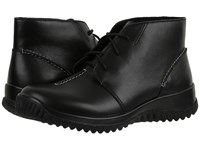 Drew Shoe Krista Black Smooth Leather Women's Lace Up Casual Shoes