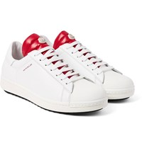 Moncler Joachim Quilted Shell And Leather Sneakers White