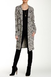 Bobeau Printed Long Coat White
