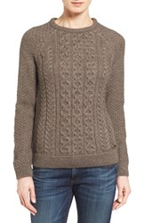 Barbour Women's Cable Knit Crewneck Sweater