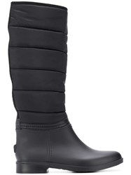 Emporio Armani Quilted Boots Black
