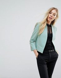 New Look Crop Tailored Jacket Mint Green