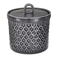 Murmur Textured Stoneware Storage Jar Charcoal Black