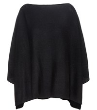 Jardin Des Orangers Virgin Wool And Cashmere Cape Sweater Black