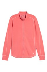 Tommy Bahama Jen And Terry Full Zip Top Classic Pink Crystal Rose