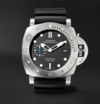 Officine Panerai Luminor Submersible 1950 3 Days Automatic 47Mm Titanium And Rubber Watch Black