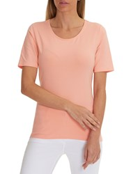Betty Barclay Short Sleeve T Shirt Peach Pink