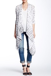 Fate Printed Open Front Cardigan White