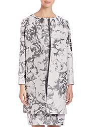 Lafayette 148 New York Karen Botanical Splash Jacquard Jacket Rock