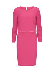 Gina Bacconi Crepe Dress And Beaded Edge Over Top Pink
