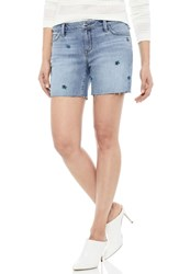 Sam Edelman The Derby Embroidered Denim Bermuda Shorts Fannie