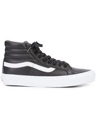 Vans Sk8 Hi Sneakers Men Leather Rubber 11 Black