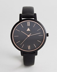 Asos Curve Rose Gold Edge Detail And Black Watch