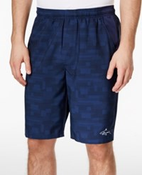 Greg Norman For Tasso Elba Men's Performance Printed Golf Shorts Only At Macy's Faded Navy