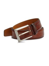 Saks Fifth Avenue By Magnanni Leather Belt Cognac