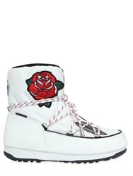 Moon Boot Msgm 30Mm Embroidered Nylon Snow Boots