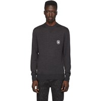 Neil Barrett Grey Cashmere Travel Sweater