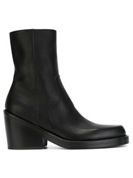 Ann Demeulemeester Zip Ankle Boots Black