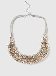 Dorothy Perkins Ball And Space Collar Necklace Grey