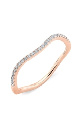 Bony Levy Wavy Stackable Diamond Ring Nordstrom Exclusive Rose Gold
