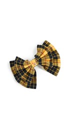 Dannijo Mabel Big Bow Barrette Mustard Plaid