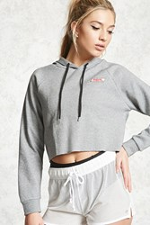 Forever 21 Active Graphic Cropped Hoodie