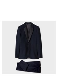 Paul Smith Men's Navy Wool And Mohair Blend Evening Suit Blue