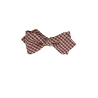 Thomas Mason Checked Bow Tie Brown
