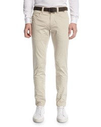 Loro Piana Stache B. Slim Straight Jeans Light Chinchilla