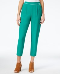 Armani Exchange Cropped Pull On Pants Jade
