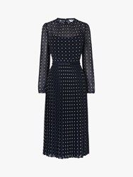 Lk Bennett L.K.Bennett Avery Dress Pri Navy Polka