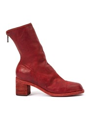 Guidi Rear Zip Ankle Boots Women Horse Leather 39 Red